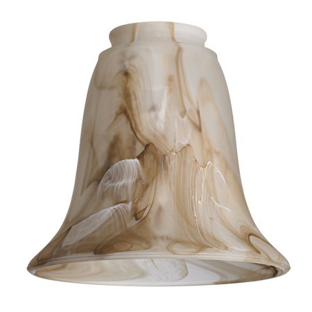 One Light Fan Kit - Marbleized Bronze Glass Bell Shade 2 1/4