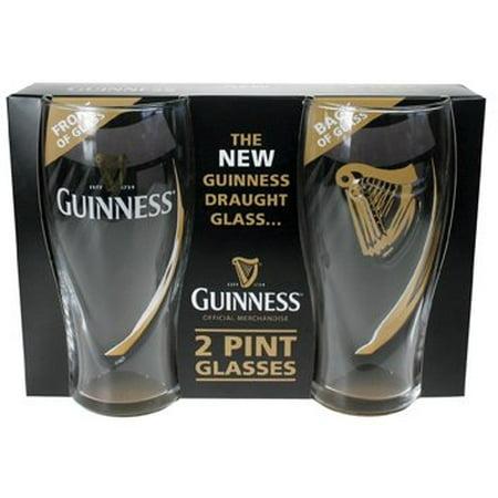 Guinness Beer Glasses - Guinness Embossed Gravity 2pk Pint Glass