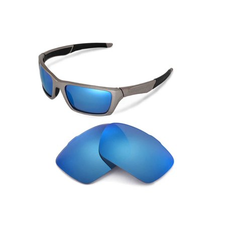 Walleva Ice Blue Polarized Replacement Lenses for Oakley Jury - Ice Blue Contact Lenses Halloween