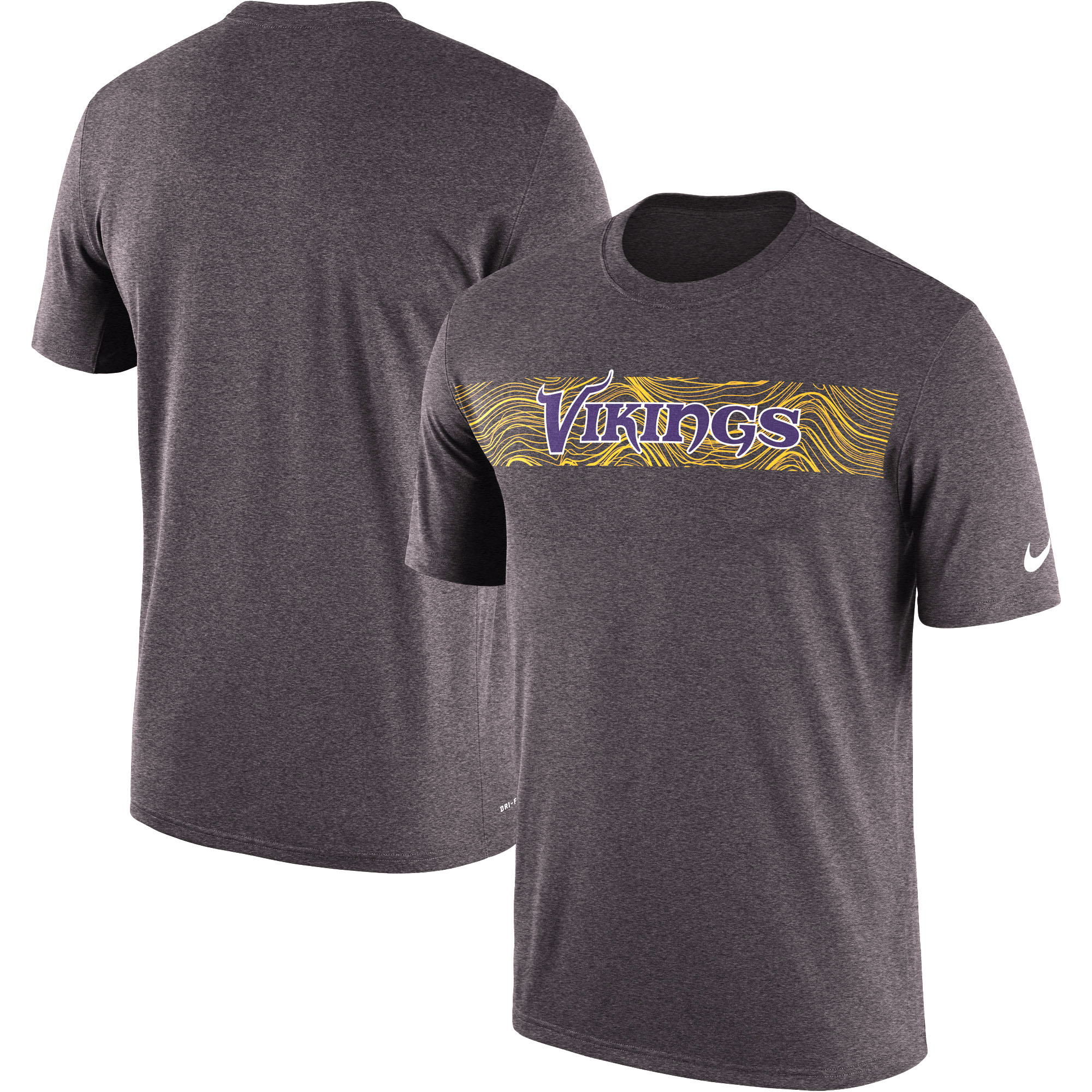 Minnesota Vikings Nike Sideline Seismic Legend Performance T-Shirt - Heathered Charcoal