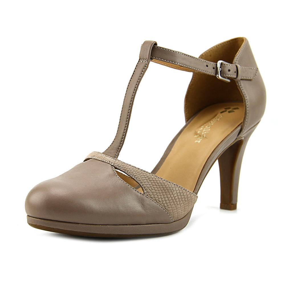 Naturalizer Megan Women W Round Toe Leather Gray Heels