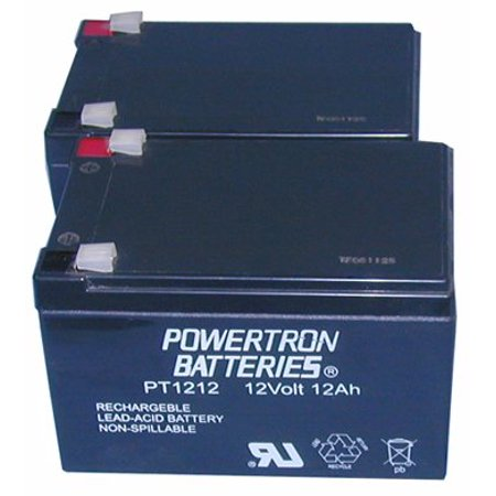 Powertron 2 12 Volt 12AH Rechargeable Electric Scooter E-Bike Battery - E-bike Scooter