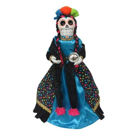 Halloween Fabric Blue Shirt DOD Reaper