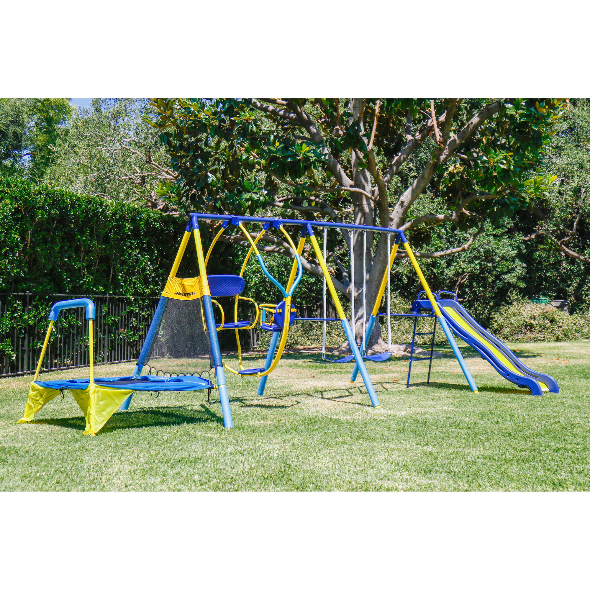 Playground Set Frame FUN Play Center Swing Slide Outdoor Backyard Kids  Toddler