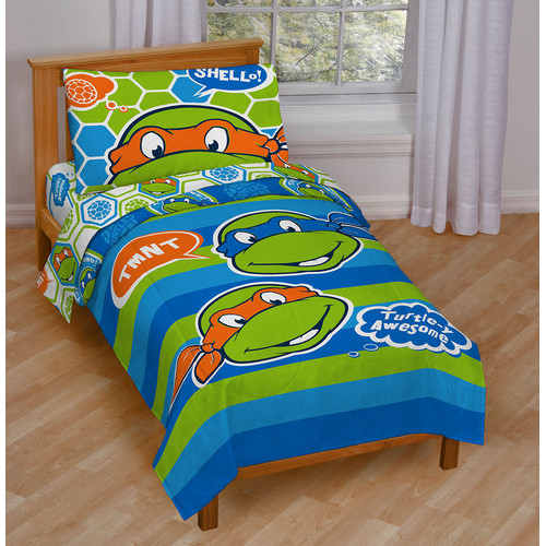 Teenage Mutant Ninja Turtles 4-Piece Toddler Bedding Set 'Turtle-y Awesome' by Jay Franco