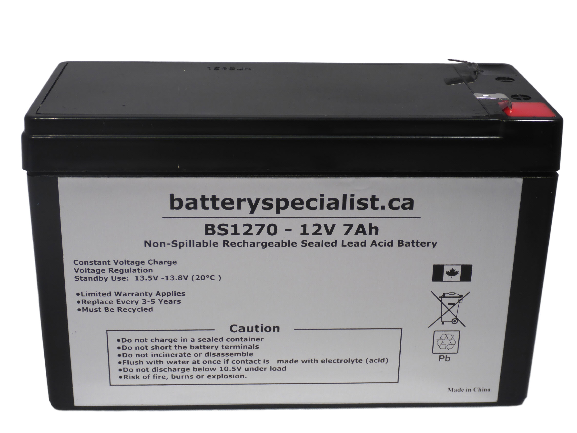 This is an AJC Brand Replacement APC BT1000MC 12V 7Ah UPS Battery