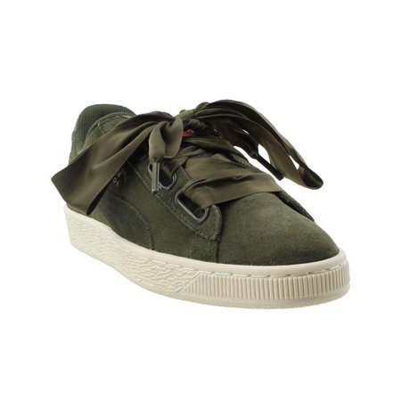 Puma Womens Suede Heart Velvet Rope Athletic & Sneakers Green, Green, Size 9.0 ()