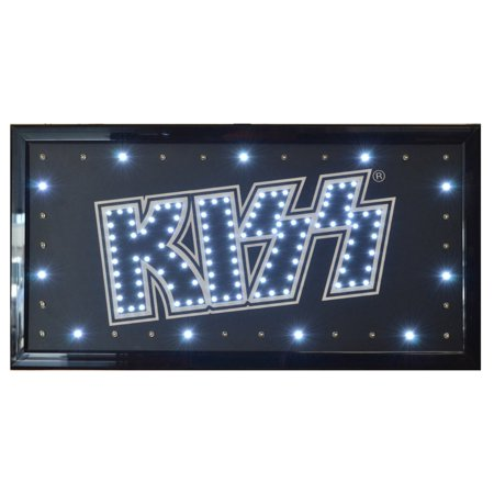 KISS Rock Band Flashing LED Hanging Man Cave Wall Sign for Garage, Bar,