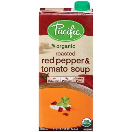 (2 Pack) Pacific Natural Foods Organic Roasted Red Pepper & Tomato Soup, 32 fl -