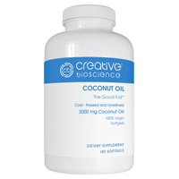Coconut oil 1234 dietary supplement softgels, 2000mg, 180 count