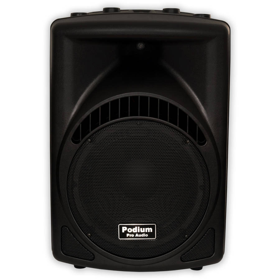 "Podium Pro PP1204CD Powered 600W Active 12"" Speaker with MP3 DJ, PA, Karaoke, Band by Podium Pro Audio"