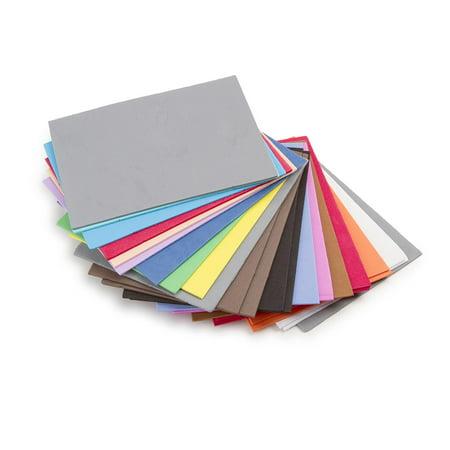 Darice Foamies Brand Foam Sheets, Assorted Colors, 100 Pieces (Craft Foam Sheets 6mm)