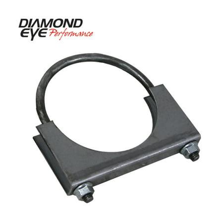Diamond Eye CLAMP 4in 3/8in U-BOLT 11 GAUGE SADDLE HEAVY DUTY ()