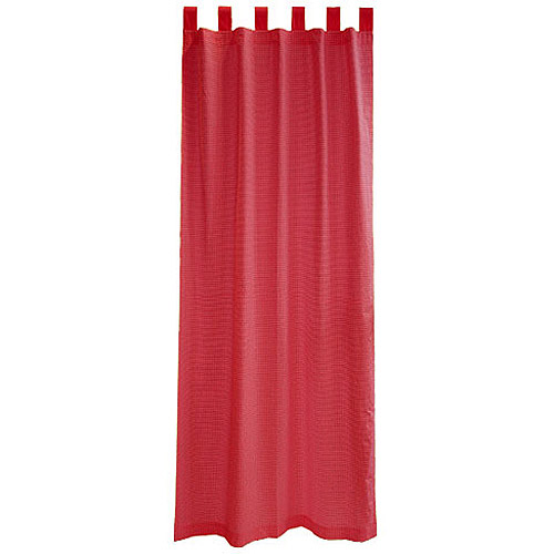 Seed Sprout Gingham Tab Top Curtains (2 Panels), Red Gingham
