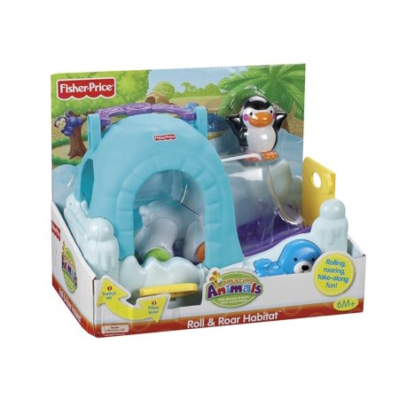 Fisher-Price Amazing Animals Roll and Go Habi-tote Polar Cub Cave, The Roll and Go Habitat is made up of two fun take along playsets for baby each sold.., By