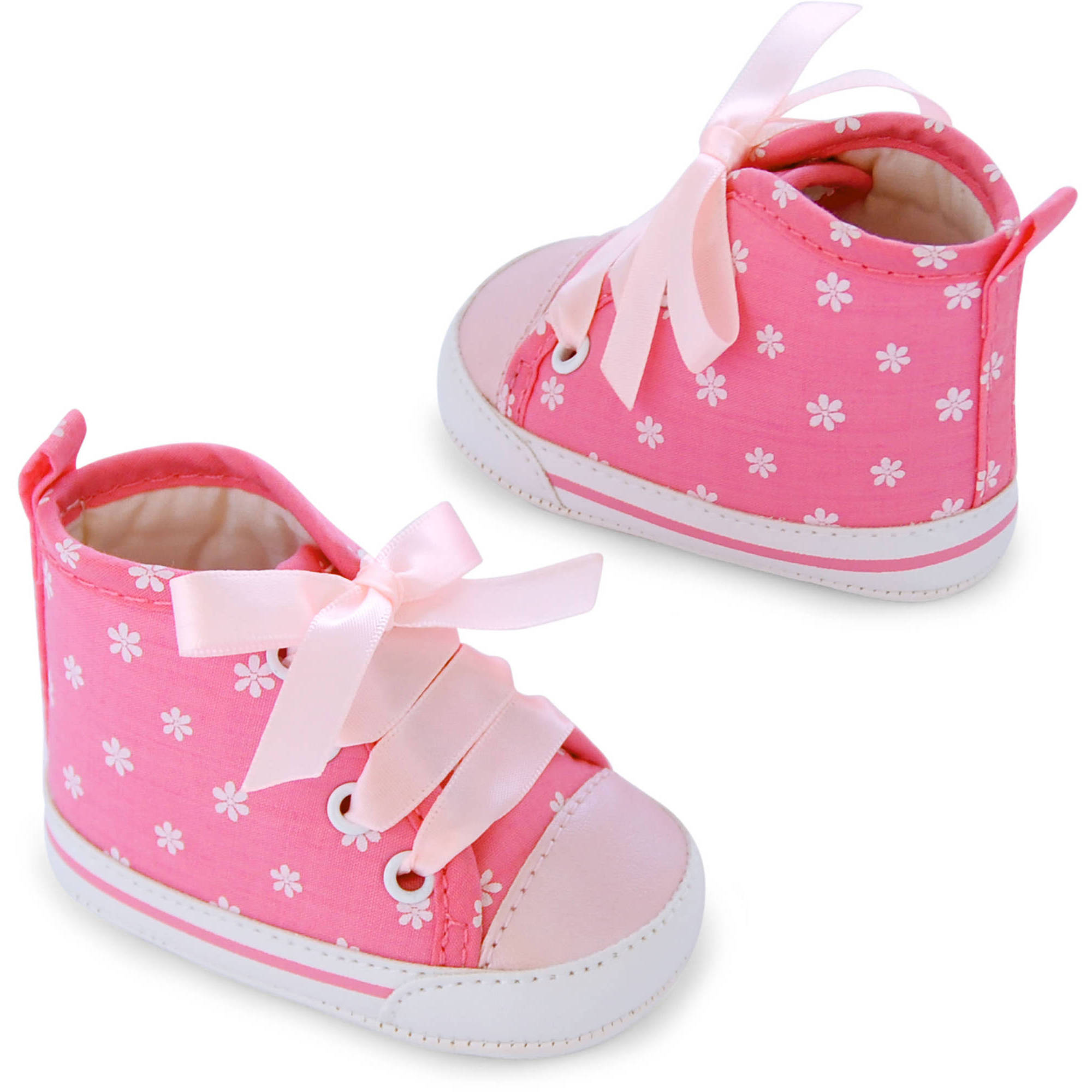 Child of Mine by Carter's Newborn Baby Girl Printed Hightop Sneaker Shoes, 0-3M