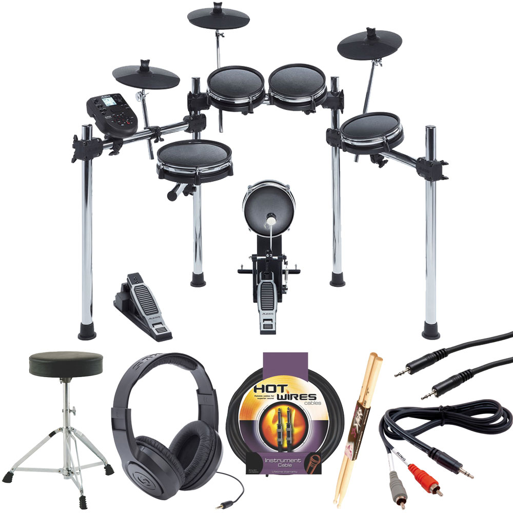 Alesis Surge Mesh Kit Eight-Piece Electronic Drum Kit + More!