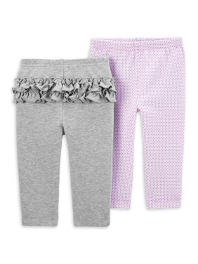 Child of Mine by Carter's Baby Girl Pants, 2-Pack