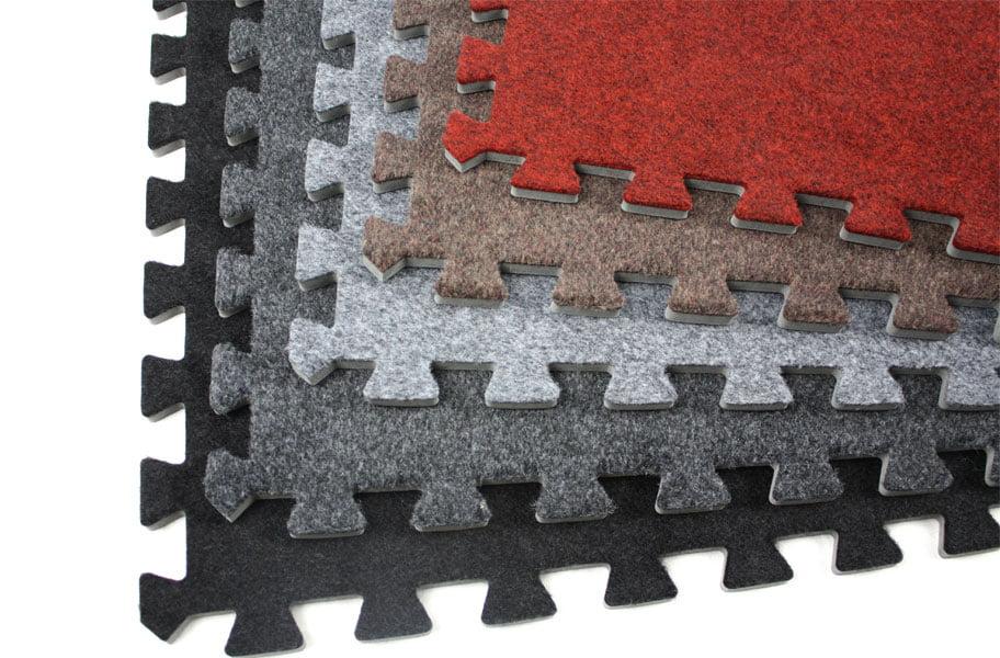 Incstores Eco Soft Carpet Foam Tiles 2 X 2 Trade Show Gym Play Room Flooring 6 Tile Pack Walmart Com