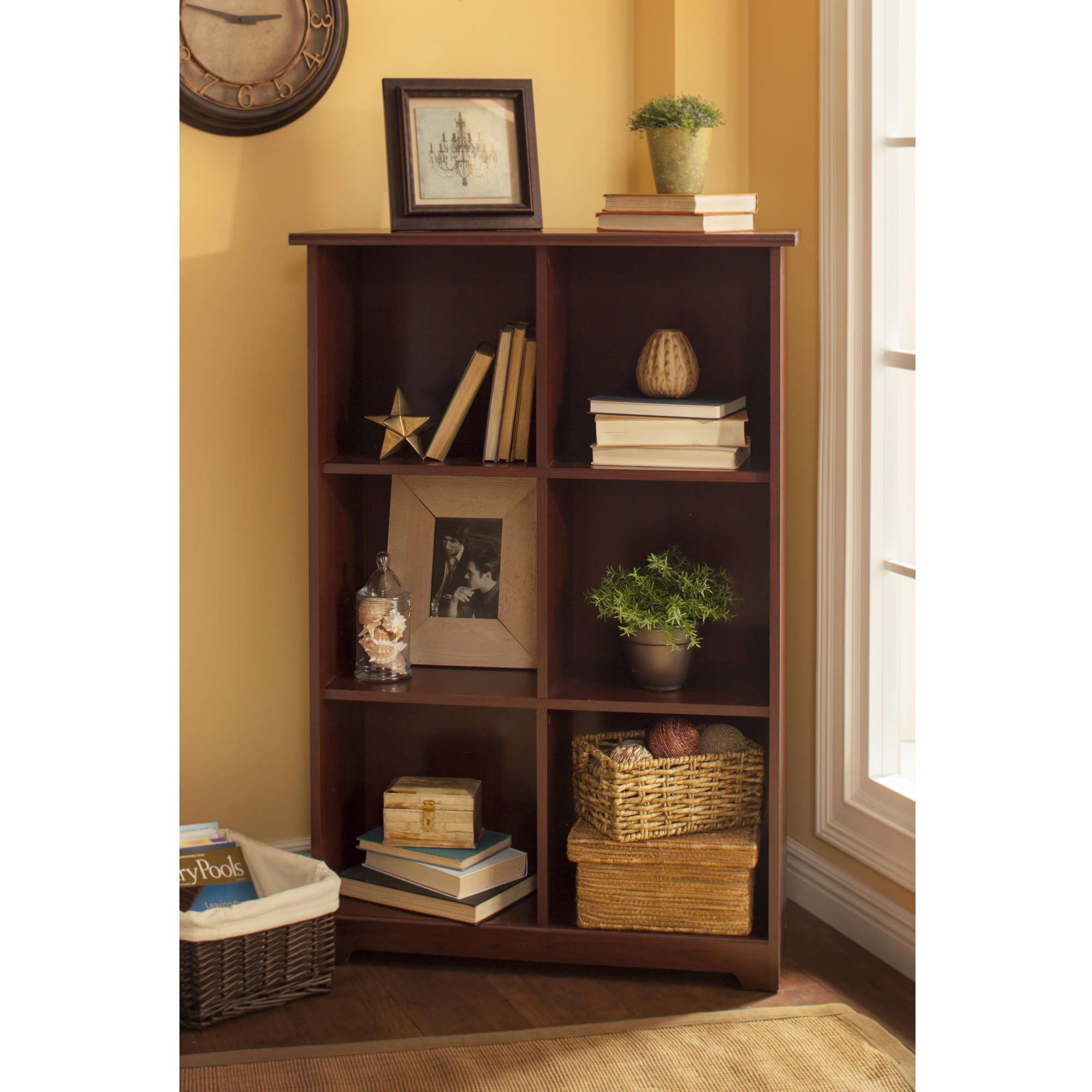Bush Furniture Cabot Collection 6 Cube Bookcase