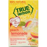 (30 Packets) True Lemon Peach Lemonade Drink Mix, 1.06 oz