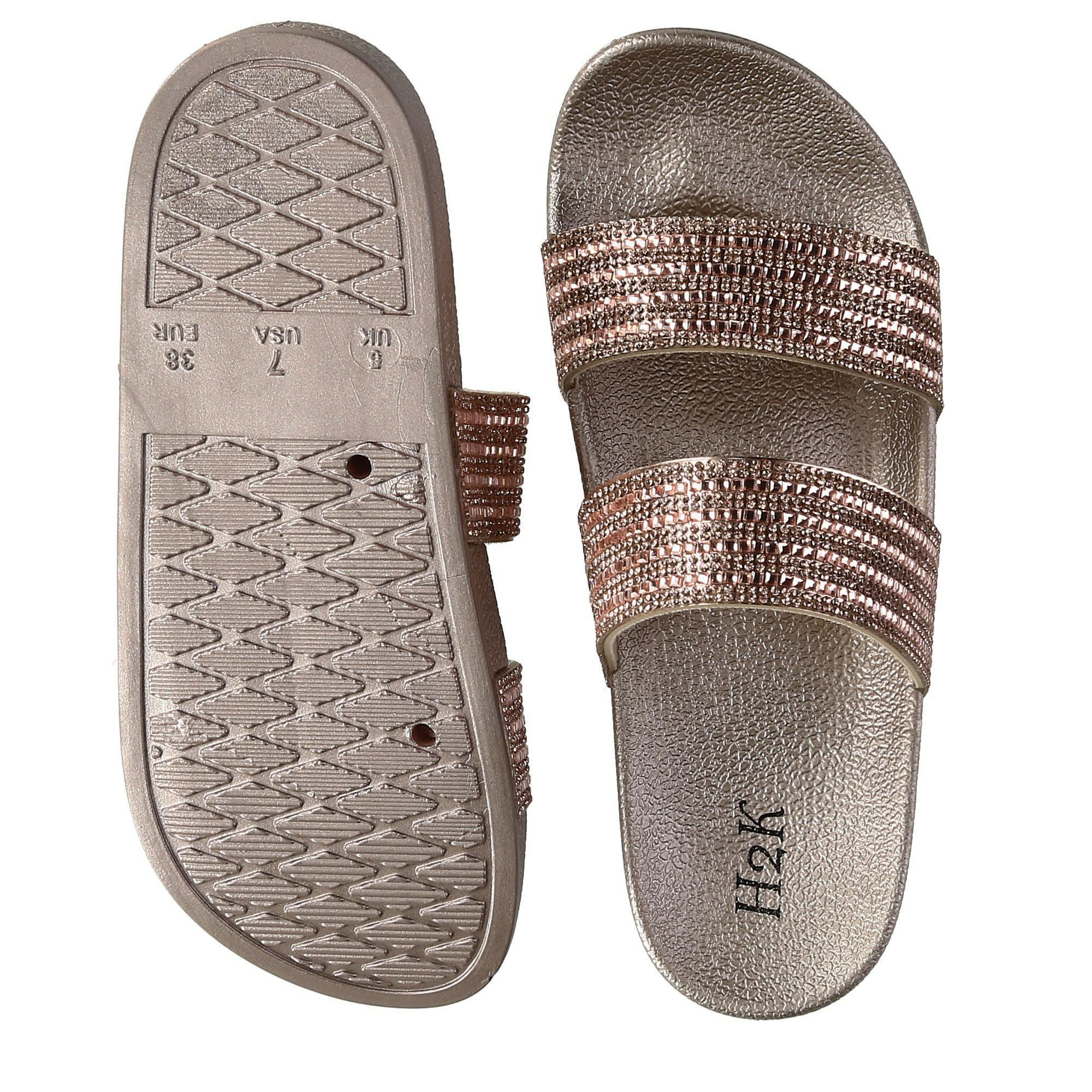H2K Women's Fantasy Sparkle Slide Slipper - image 3 of 4