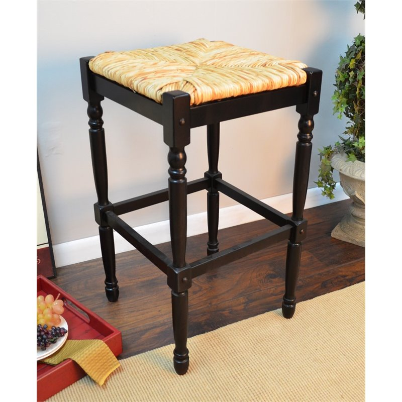"Carolina Classics Frederick 29"" Bar stool in Black"