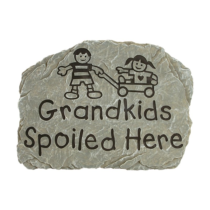 Carson Home Accents Grandkids Spoiled Here Garden Stone by Carson Industries Inc