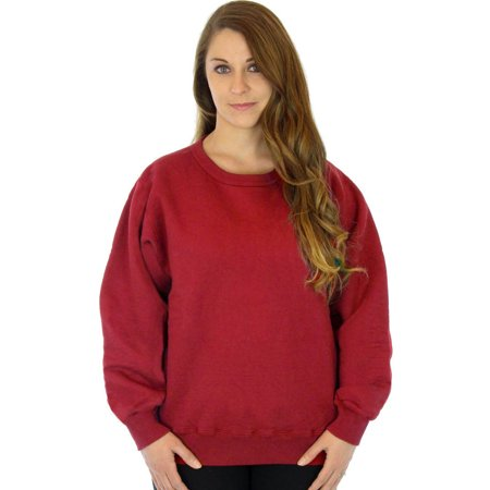100% Heavy Cotton Womens Crew Pullover Sweatshirt