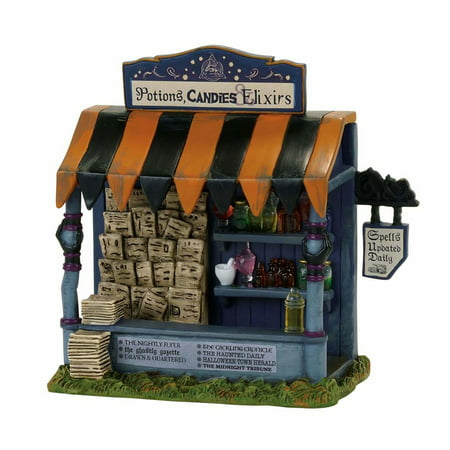 Depart. 56 Halloween Village 4057617 Spells & Potions Kiosk - Village Halloween Parade 2017