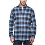 Weatherproof Vintage Mens Lightweight Plaid Flannel Shirt (XX-Large, Navy)