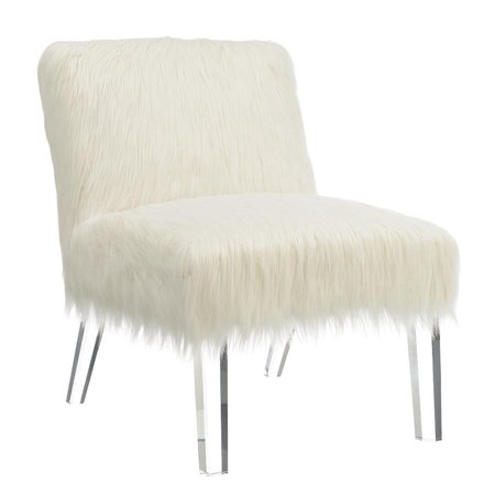 Contemporary White Accent Chair ()