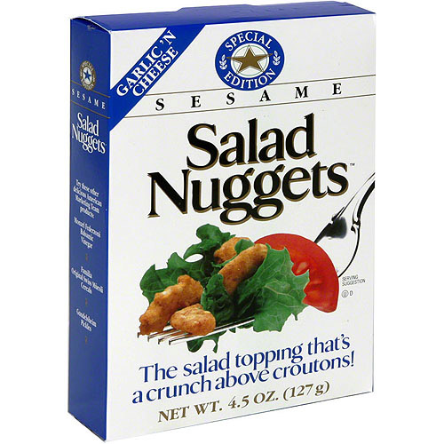 Special Edition Garlic N Cheese Salad Nuggets , 4.5 oz (Pack of 12)