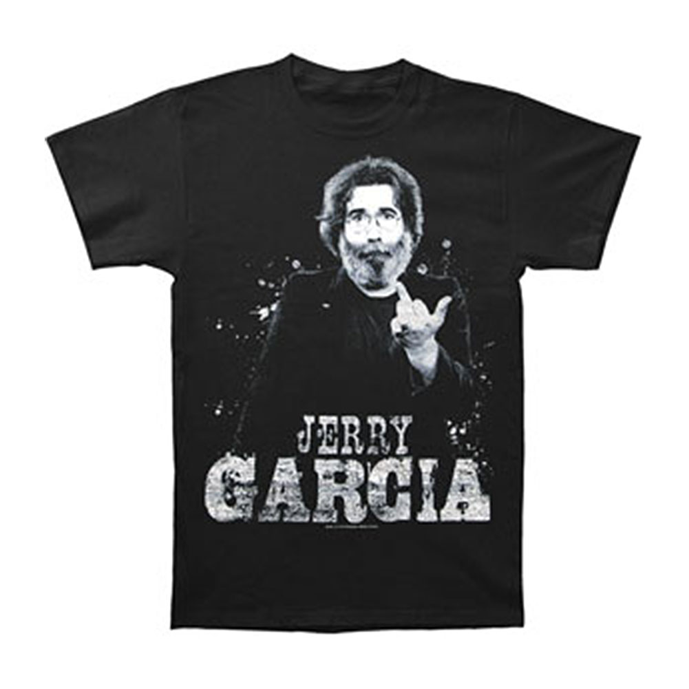 Jerry Garcia Men's  Finger T-shirt Black