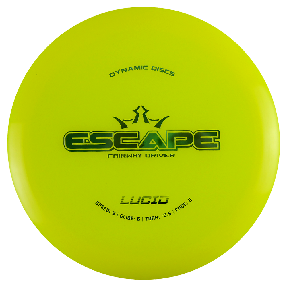 Dynamic Discs Lucid Escape 173-176g Fairway Driver Golf Disc [Colors may vary] - 173-176g
