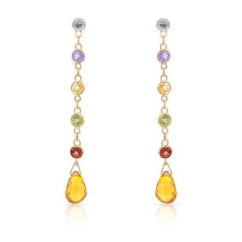 asher jewelry 14k yellow gold multi gemstone dangle