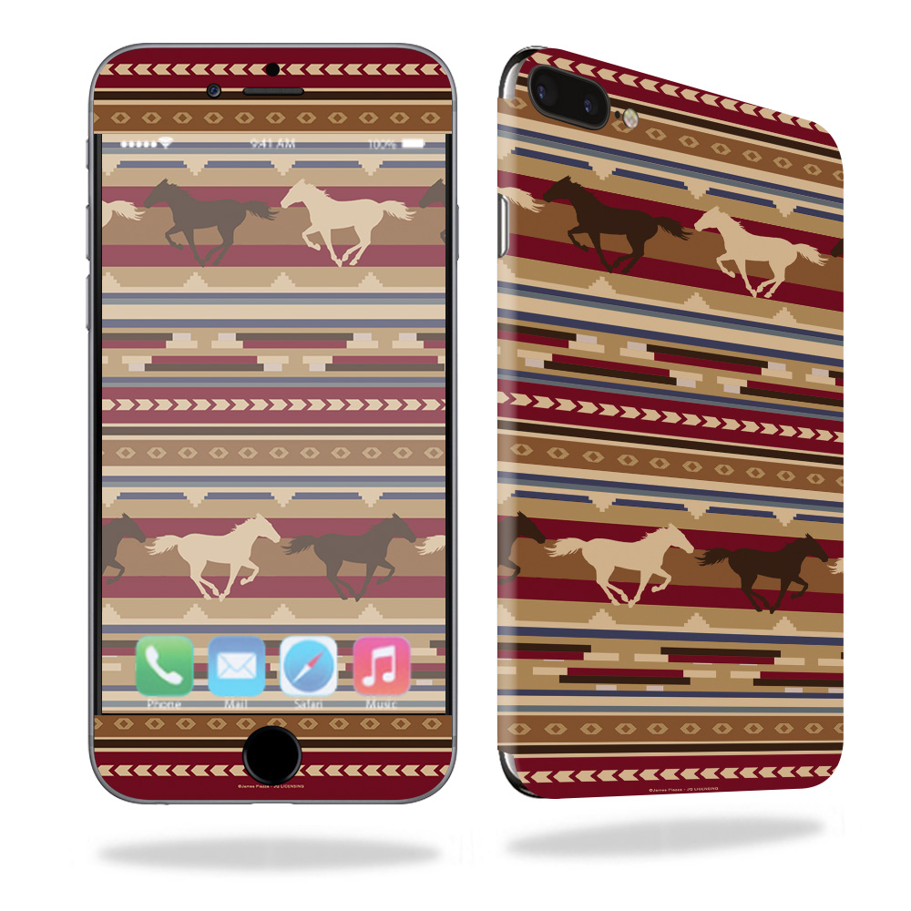Skin For Apple iPhone 7 Plus – Western Horses | MightySkins Protective, Durable, and Unique Vinyl Decal wrap cover | Easy To Apply, Remove, and Change Styles | Made in the USA