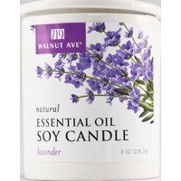 719 Walnut Avenue Lavender Natural Essential Oil Soy Scented Candle, 8 Oz.