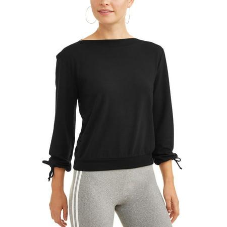 Dance 2Liv Women's Long Tie Sleeve Ballet Sweatshirt ()