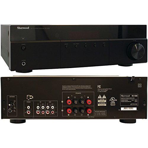 Sherwood Rx-4508 Am fm Receiver 200 W Rms 2 Channel Black 1% Thd 40 Hz To 20 Khz Am, Fm Bluetooth (rx-4508) by Sherwood