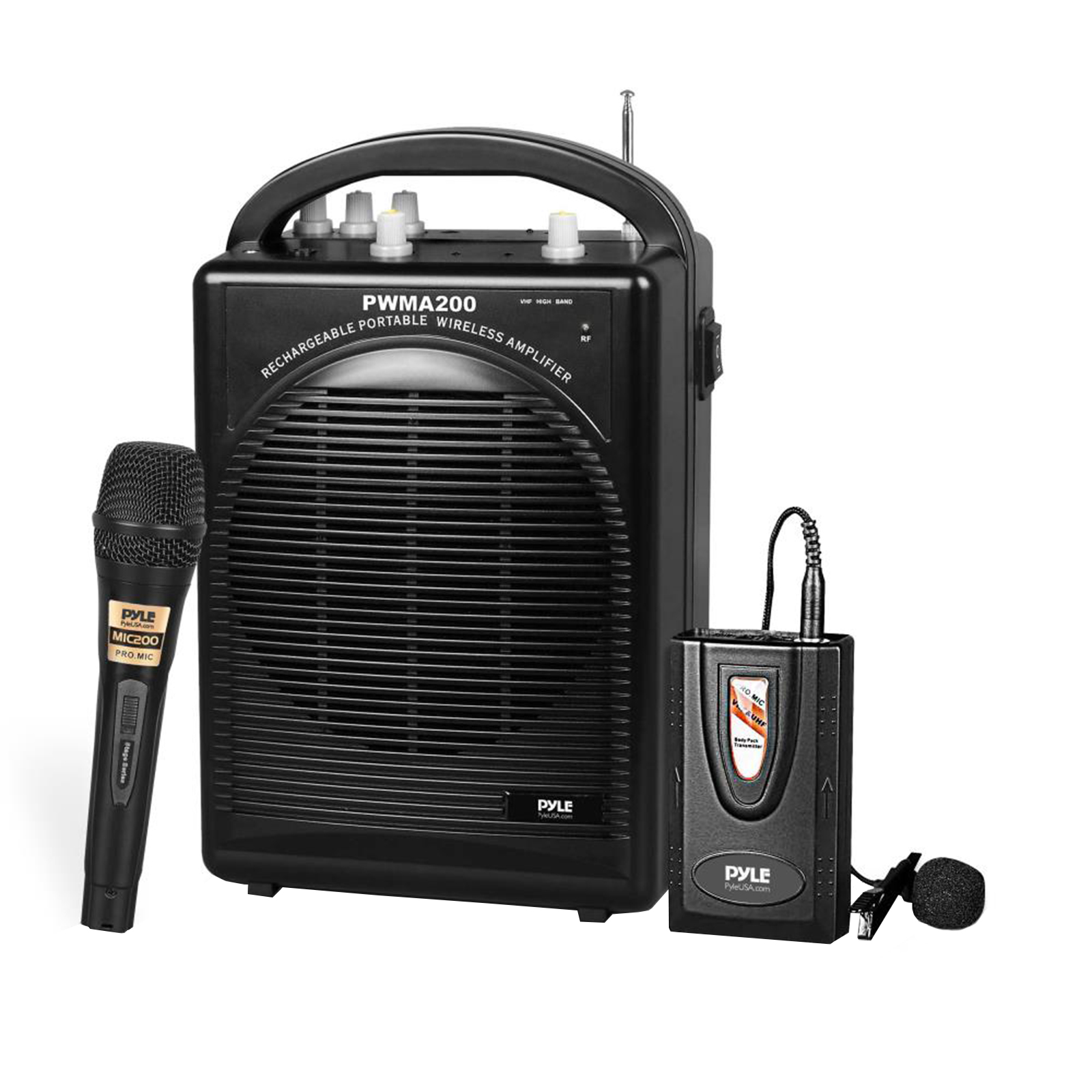 Pyle PWMA200 Portable PA Speaker & Microphone System Kit | FM Stereo Radio (Includes... by Pyle