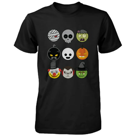 Halloween Monsters Men's Shirt Humorous Graphic Tee for Haunt Night Funny Shirt - College Humor Racist Halloween