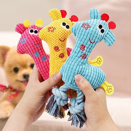 Corn Velvet Animal pet Toy Wearing Plush Vocal Giraffe Puppy Toy