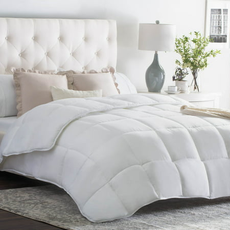 Weekender Quilted Down Alternative Comforter in Classic White, Multiple Sizes - Queen