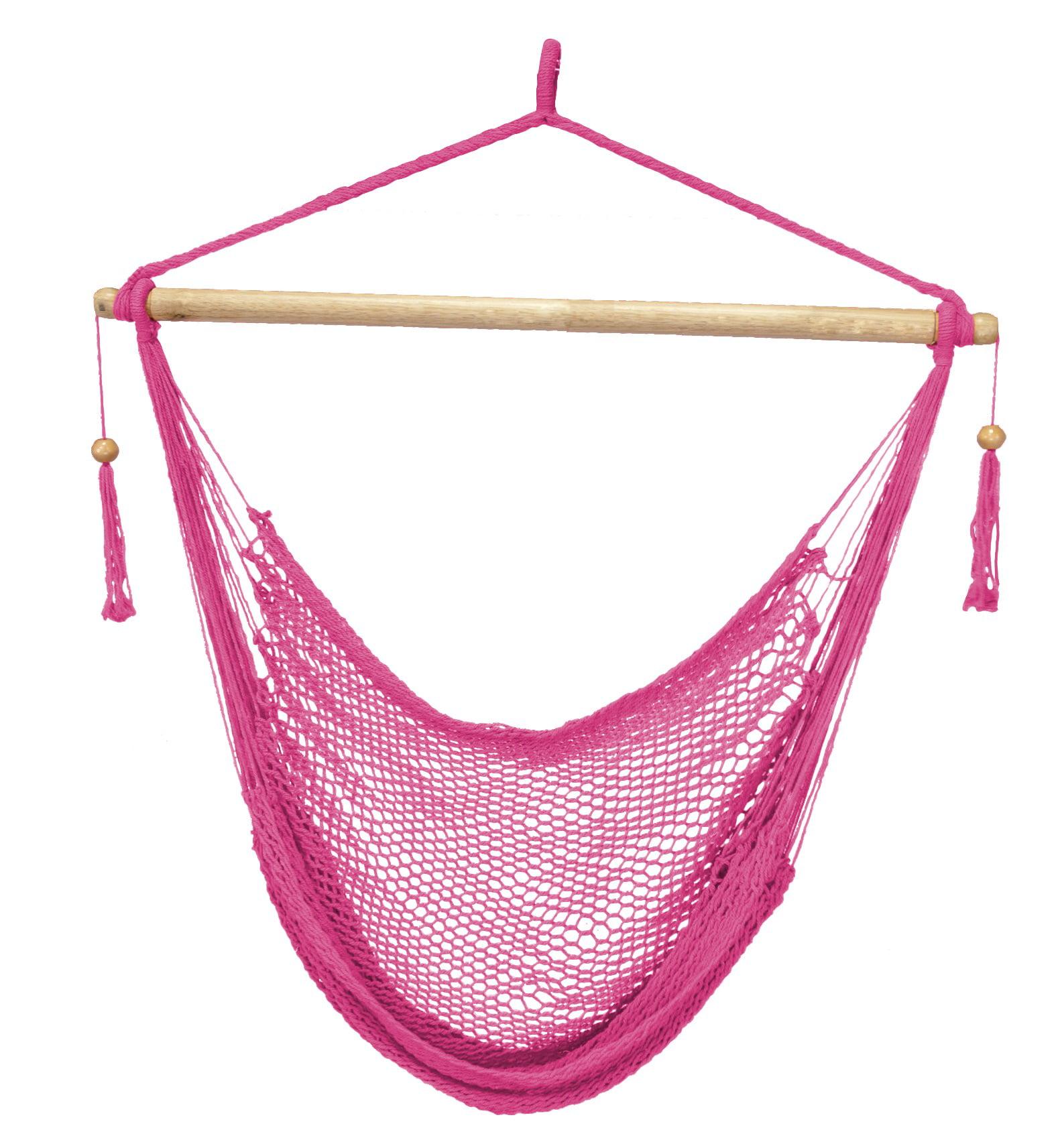 Island Paradise Rope Hammock Chair - Pink