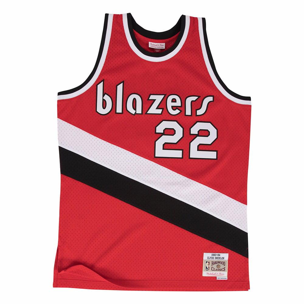 Clyde Drexler Portland Trail Blazers NBA Mitchell & Ness Red 1983-84 Swingman Throwback Jersey For Men
