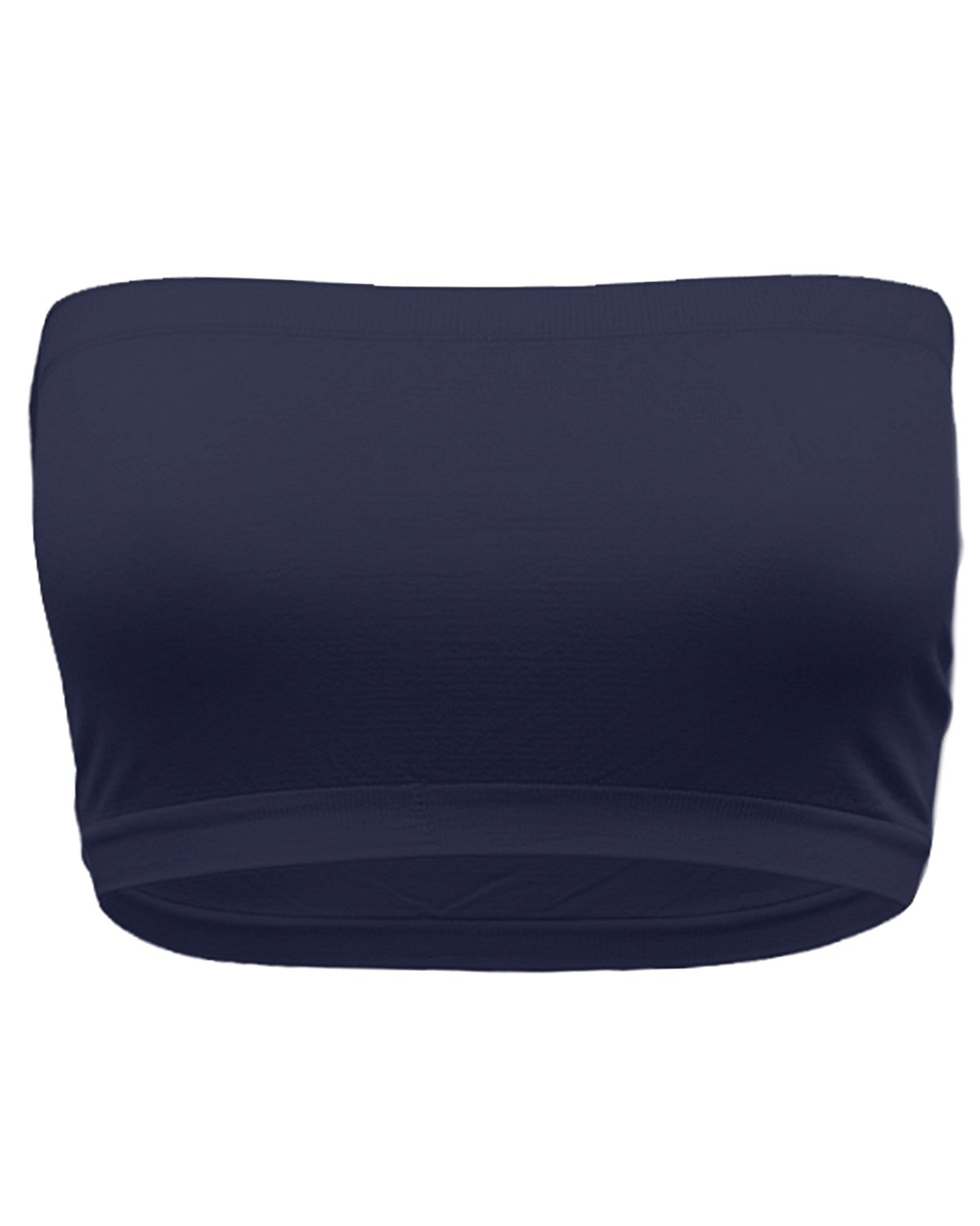 Women & Juniors Basic Layering Seamless Cropped Strapless Bandeau Tube Top One Size
