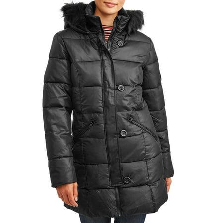 Junior City Jacket (Pink Platinum Juniors' Long Down Blend Coat)