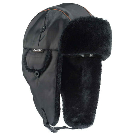 Ergodyne N-Ferno 6802 Thermal Winter Trapper Hat, Black, Large/X-Large (Trappers Hat Women)