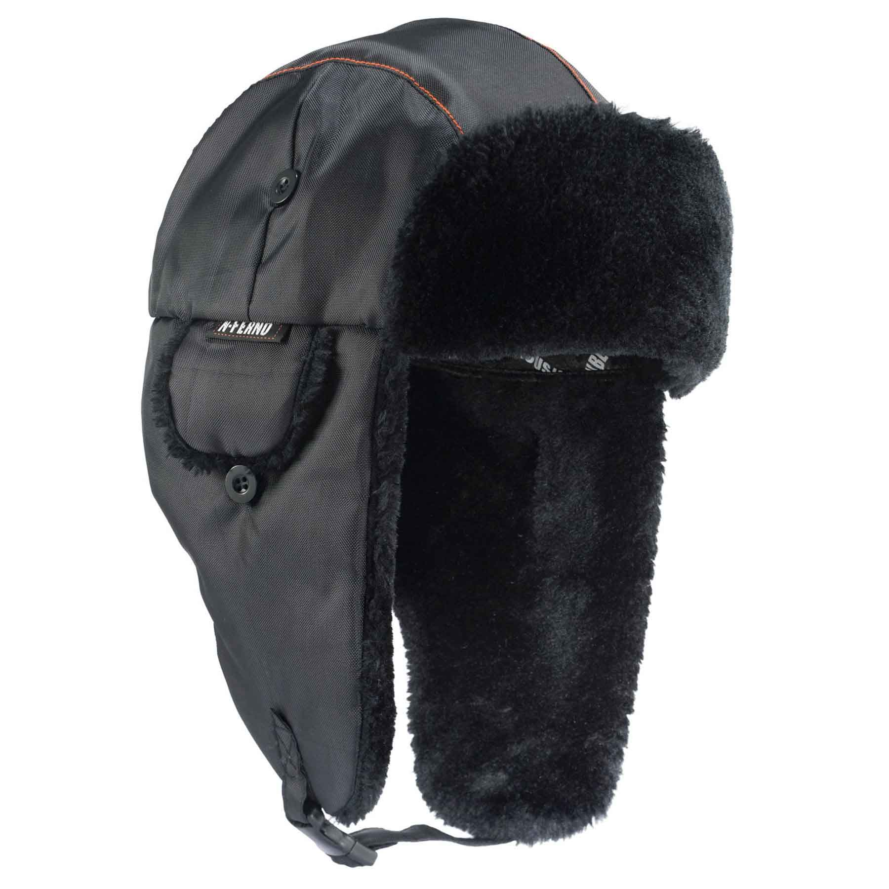 N-Ferno 6802 Thermal Winter Trapper Hat, Black, Large/X-Large
